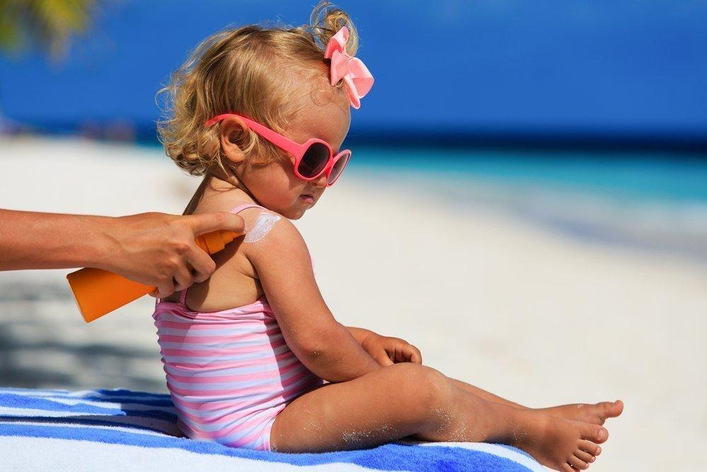 Солнечная загар для детей